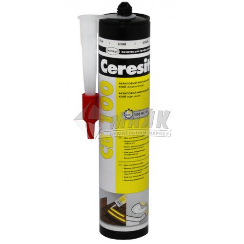 Клей монтажний (рідкі цвяхи) акриловий Ceresit CB 100 400 г білий
