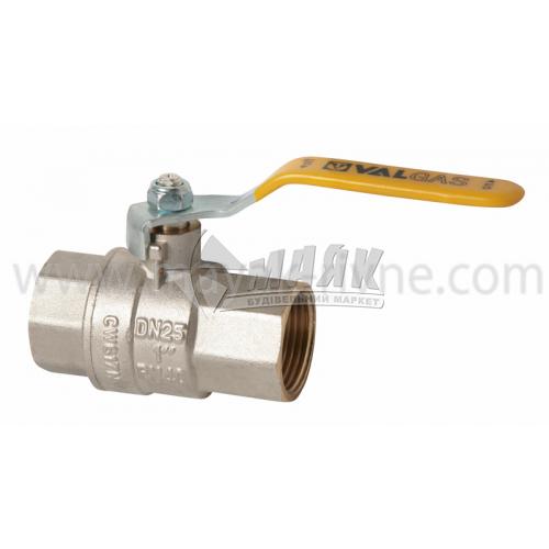 """Кран кульовий газовий VALTEC VALGAS 1"""" внутрішня-внутрішня різьба сталева ручка"""