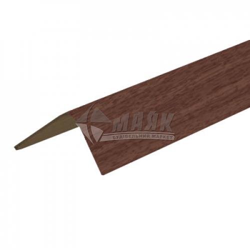 Профіль оздоблювальний ПВХ КСК Профіль У20 кутовий 20×20×2700 мм горіх темний