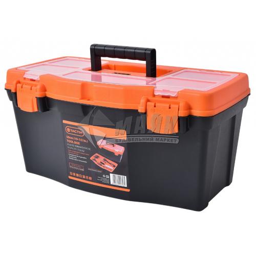 """Ящик для інструменту з лотком та ораганайзером Tactix 19,5"""" 500×260×240 мм пластиковий"""