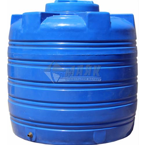 Ємкість двошарова харчова вертикальна пластикова Євро Пласт EV Ч 750 л