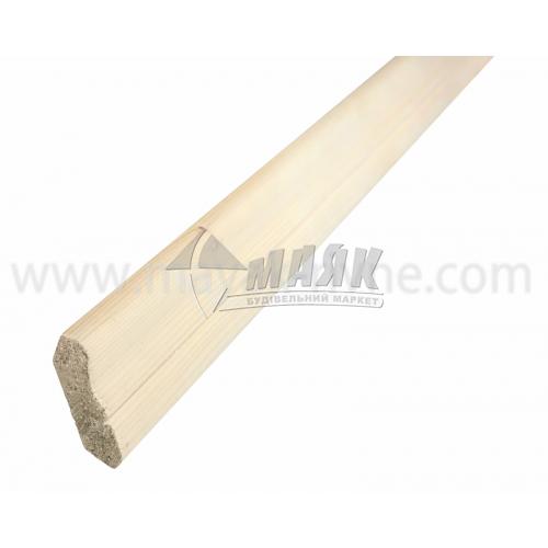 Плінтус підлоговий дерев'яний Євро бук 2,1 м