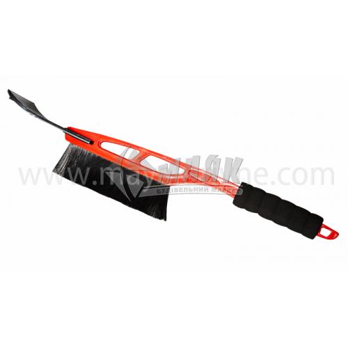 Щітка-скребок автомобільна для снігу і льоду 100×530 мм м'яка ручка