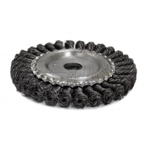 Щітка дротяна дискова NovoTools 100 мм плетений сталевий дріт