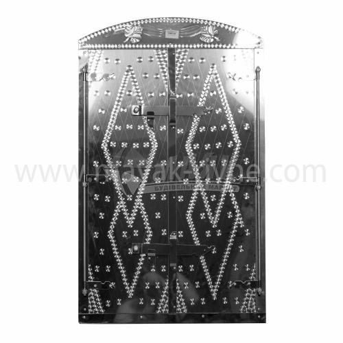 Дверцята для коптильні нержавіюча сталь Арка 500×800 мм 8,64 кг