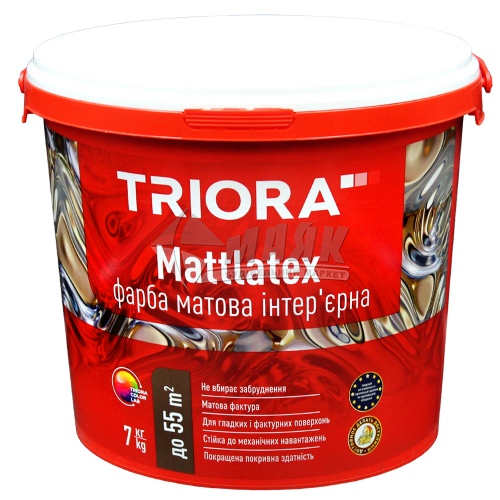 Фарба інтер'єрна TRIORA Mattlatex 7 кг біла матова