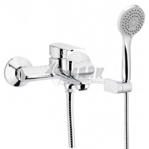 Змішувач для ванни Armatura Agat з душовим комплектом одноважільний настінний