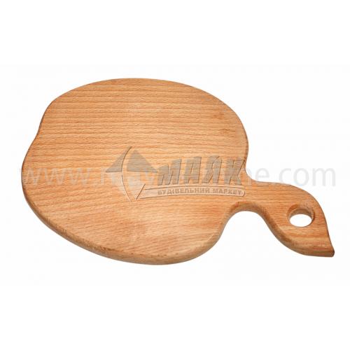 Дошка кухонна дерев'яна в асортименті форма Яблуко/Грушка/Листочок