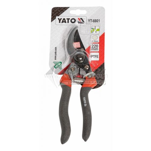 Секатор для гілок професійний YATO 25×210 мм