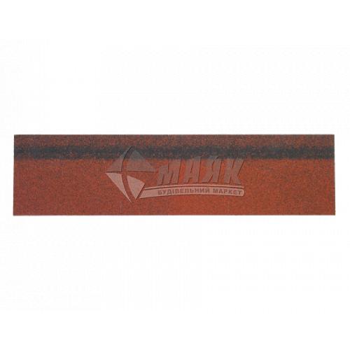 Коник-звіс ТЕХНОНІКОЛЬ для бітумної черепиці 250×1000 мм 5 кв.м червоний