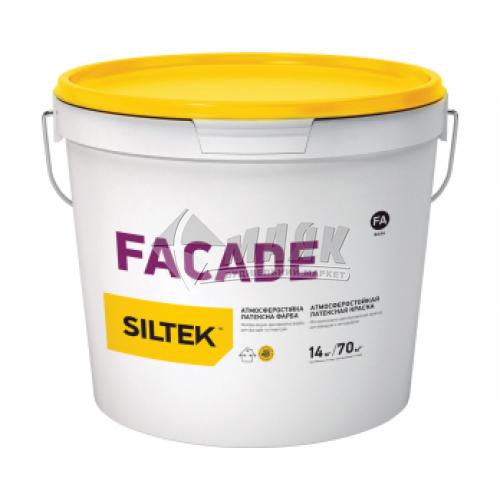 Фарба фасадна атмосферостійка Siltek Facad база FA латексна 14 кг біла