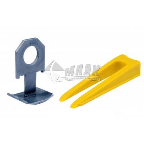 Клин та кліпса для системи вирівнювання плитки 50+50 шт