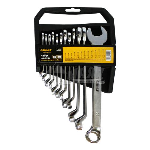 Набір ключів ріжково-накидних глибоких SIGMA 6-22 мм 12 шт Cr-V