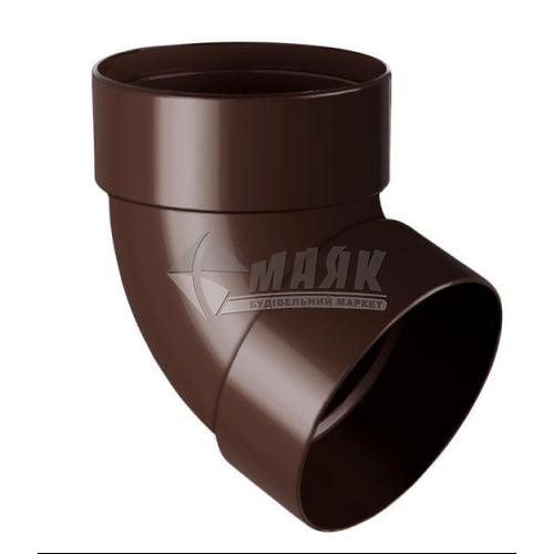 Коліно труби пластикове NewWay 67° 85 мм коричневе