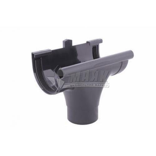 Лійка (воронка) пластикова прохідна Profil 90/75 графіт