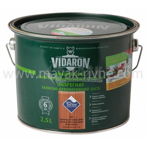 Захист для деревини Vidaron Impregnat 4в1 V06 2,5 л американське червоне дерево