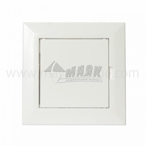 Дверцята ревізійні квадратні ДОМОВЕНТ Л 100×100 мм