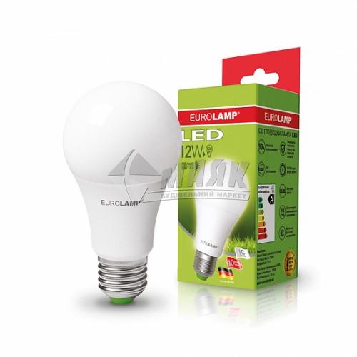 Лампа світлодіодна класична (груша) EUROLAMP 12Вт Е27 А60 4000°К (LED-А60-12274(P))
