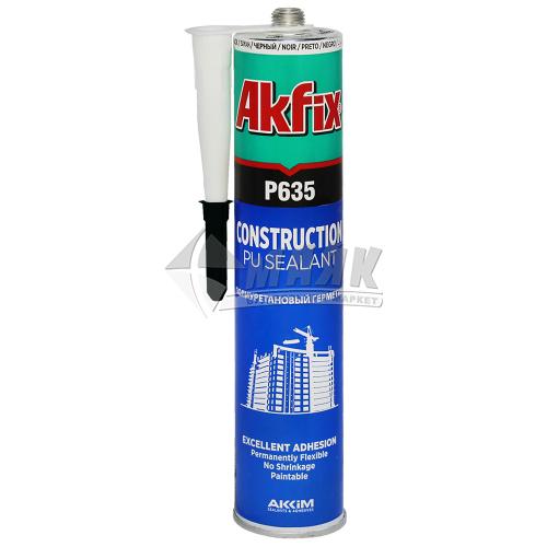 Герметик поліуретановий Akfix P635 310 мл чорний