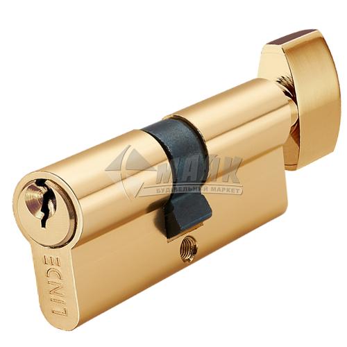 Циліндр ключ-тумблер LINDE A5E30/30Т PB латунь полірована