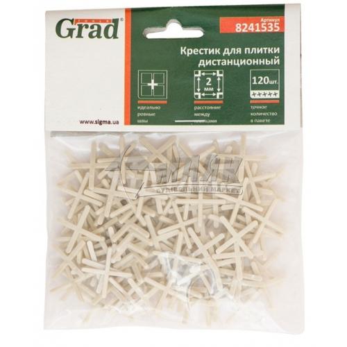 Хрестики дистанційні для плитки Grad 2,0 мм 120 шт