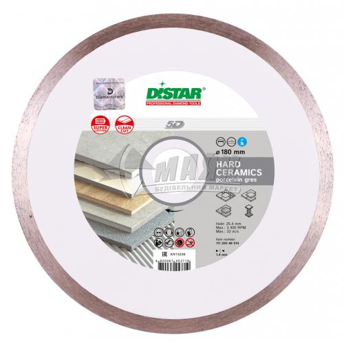 Диск алмазний відрізний DiStar 1A1R Hard Ceramics 180×1,4×10×25,4 мм суцільний