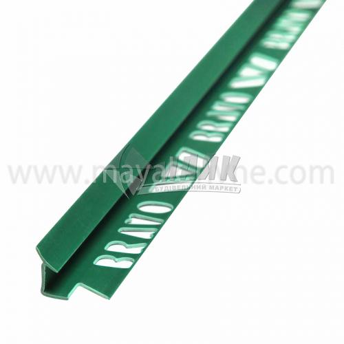 Кутник для облицювальної плитки ПВХ A внутрішній 8 мм 2,5 м 09 зелений