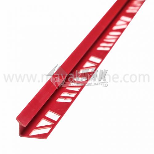 Кутник для облицювальної плитки ПВХ A внутрішній 8 мм 2,5 м 13 червоний