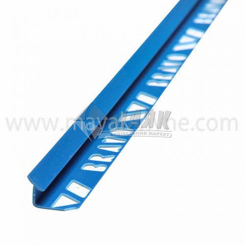 Кутник для облицювальної плитки ПВХ A внутрішній 8 мм 2,5 м 20 синій