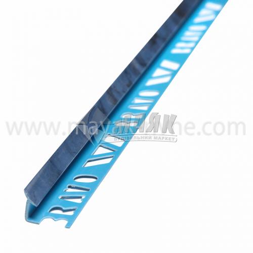 Кутник для облицювальної плитки ПВХ A внутрішній 8 мм 2,5 м 111 мармур синій