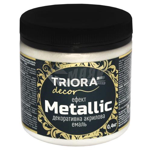 Фарба декоративна TRIORA Metallic 0,4 кг 925 перлина