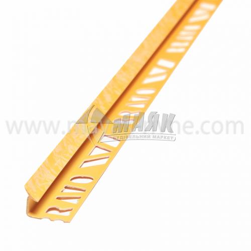 Кутник для облицювальної плитки ПВХ A внутрішній 8 мм 2,5 м 112 мармур жовтий