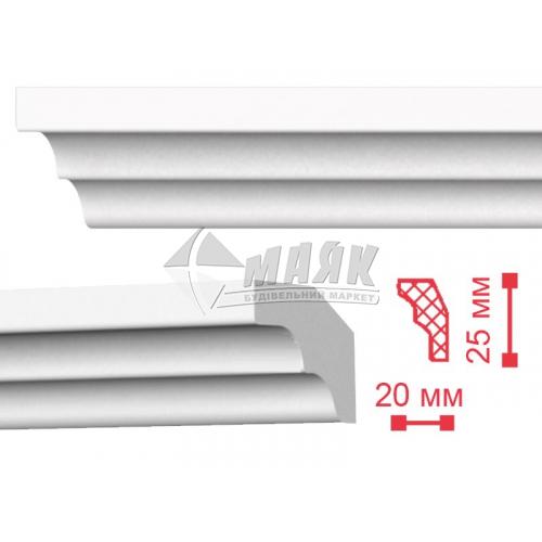 Плінтус стельовий декоративний NMC ME Decoplintus 25×20×2000 мм