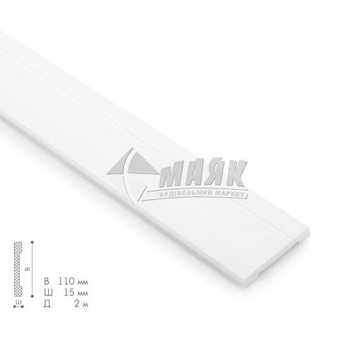 Плінтус стельовий декоративний NMC FD2 Wallstyl 15×110×2000 мм