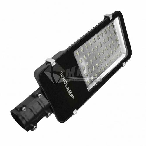 Світильник світлодіодний вуличний EUROLAMP LED SMD 50Вт 6000°К LED-SLT3-50w(smd) чорний