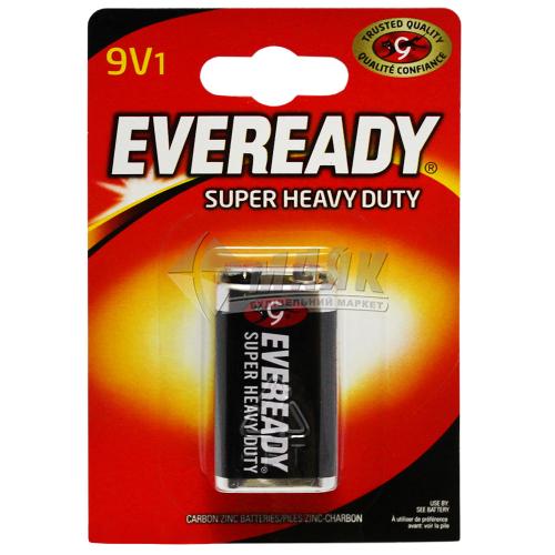 Батарейка EVEREADY 9V Super Heavy Duty сольові (цинково-вугільні) 1 шт