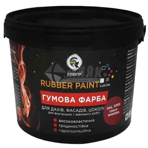 Фарба гумова Спектр акрилова 6 кг RAL 3005 темно-вишнева