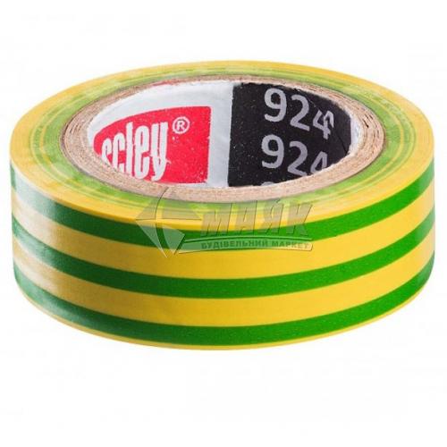 Стрічка ізоляційна ПВХ Scley 924 19 мм 20 м жовто-зелена