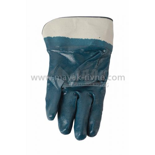 Рукавиці трикотажні робочі Doloni №851 XL (10) покриття нітрилове прогумовані бензомаслостійкі манжет крага