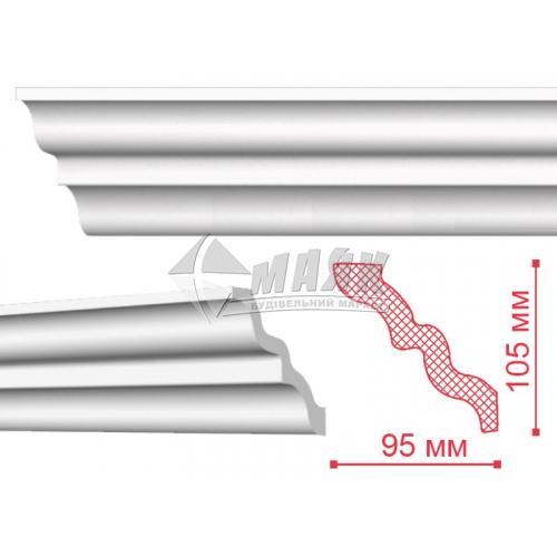 Плінтус стельовий декоративний NMC SM Nomastyll 105×95×2000 мм