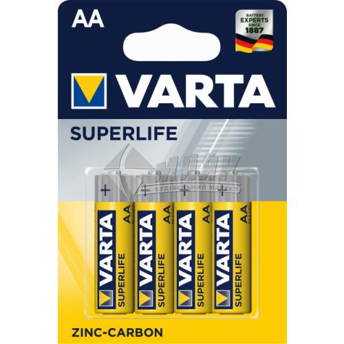 Батарейки VARTA Superlife AA Zinc-carbon сольові (цинково-вугільні) 4 шт