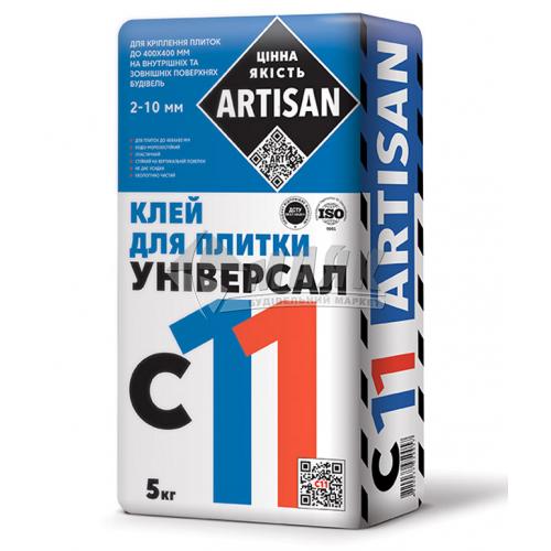 Клей для облицювальної плитки Artisan C-11 Універсальна 5 кг