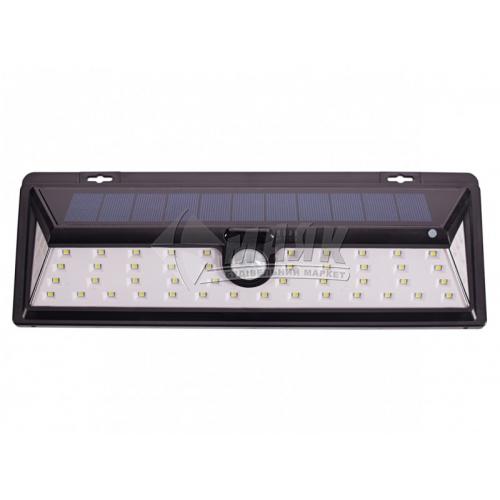 Світильник вуличний на сонячній батареї Luxel SSWL-02C 27Вт 6000°К IP64 чорний