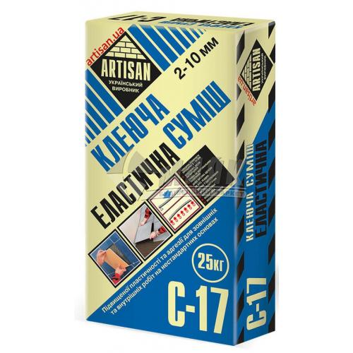 Клей для облицювальної плитки Artisan C-17 Еластична 25 кг