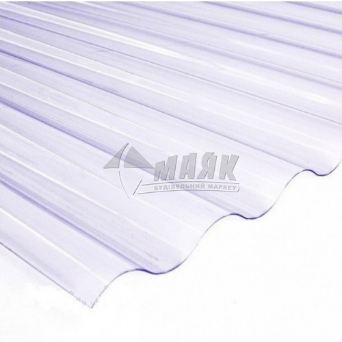 Лист ПВХ Salux Strong 2000×900×1,2 мм прозора хвиля