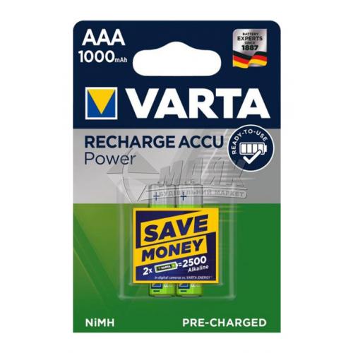 Акумулятор VARTA AAA 1000mA Ni-Mh 2 шт