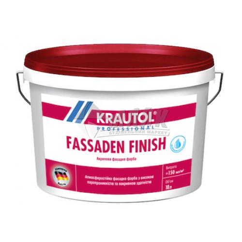 Фарба фасадна KRAUTOL Fassaden Finish стирол-акрилова 10 л біла матова