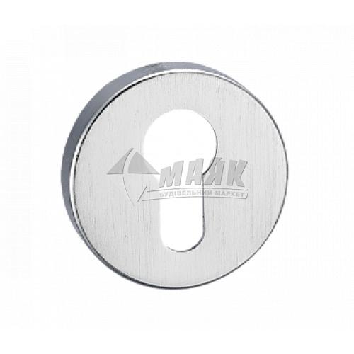 Накладка на циліндр кругла MVM E4 MС хром матовий