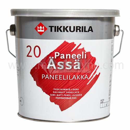 Лак панельний Tikkurila Paneeli Assa акриловий для внутрішніх робіт 2,7 л напівматовий